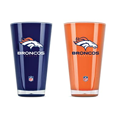 NFL Denver Broncos 20oz Insulated Acrylic Tumbler Set of 2