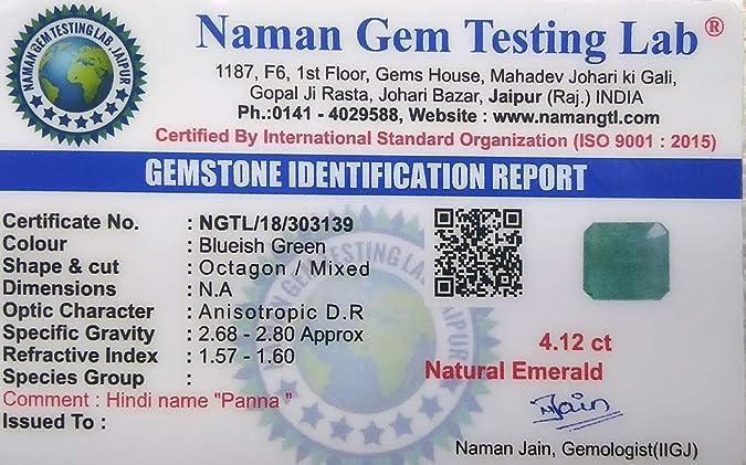 Buy 100% Natural Zambian Certified 4 12 Carat 4 57 Ratti