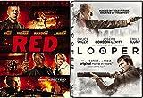 Red & Looper DVD - Bruce Willis Special movie 2 Pack Sci-Fi Set