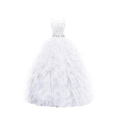 Dresstell 演奏会ドレス ステージドレス ロング丈 ビジュー付き ふわふわオーガンジー 編み上げ 花嫁ワンピース 結婚式ドレス