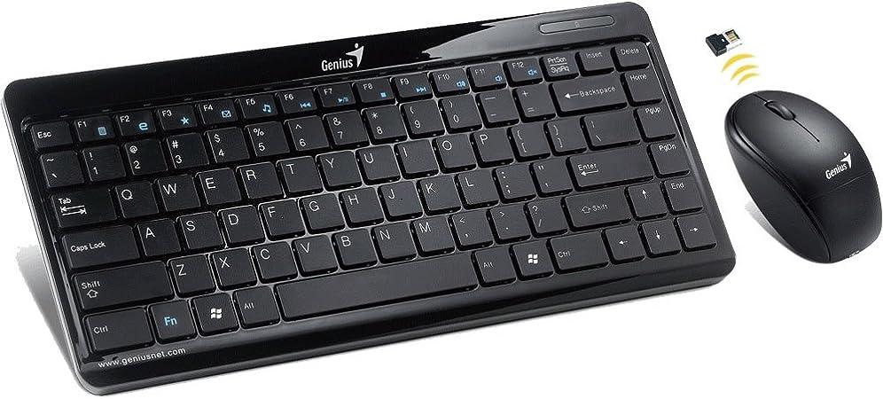 Genius LuxeMate i8150 - Juego de teclado de 2,4 GHz inalámbrico con ratón de 1600 DPI (sin teclado numérico), QWERTZ Alemán