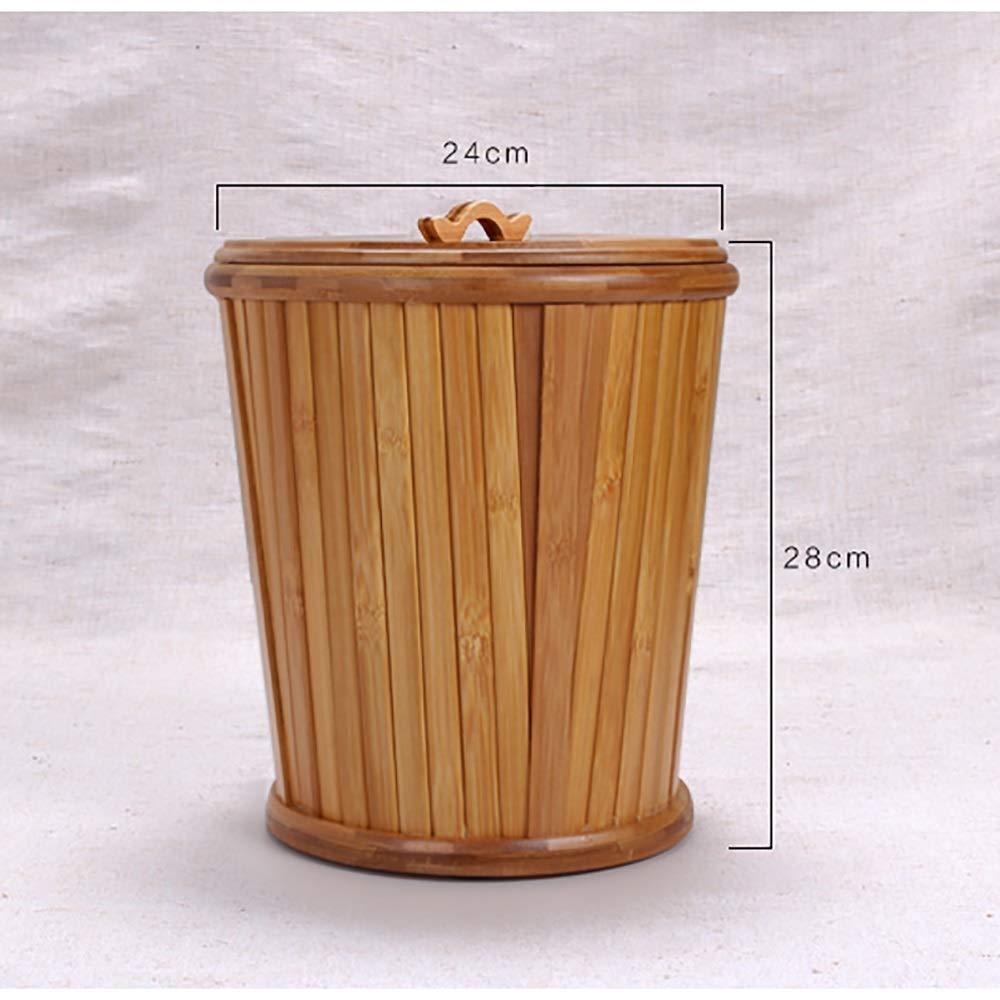 Bambus-Abwasser-Fass-Tee-Satz-Abfluss-Eimer Farbe : 2# MILAYA JI Bin Shop® Tee-Eimer Retro-Tee-Rückstand-Abfalleimer mit Zwischenlage ++
