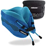 Cabeau Evolution Cool Travel Pillow- The Best Air Circulating Head and Neck Memory Foam Cooling Travel Pillow - Blue
