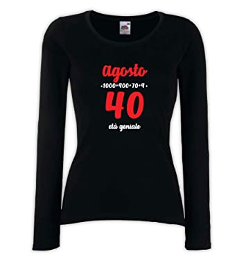 Settantallora - Camiseta de Manga Larga para Mujer J3885 ...