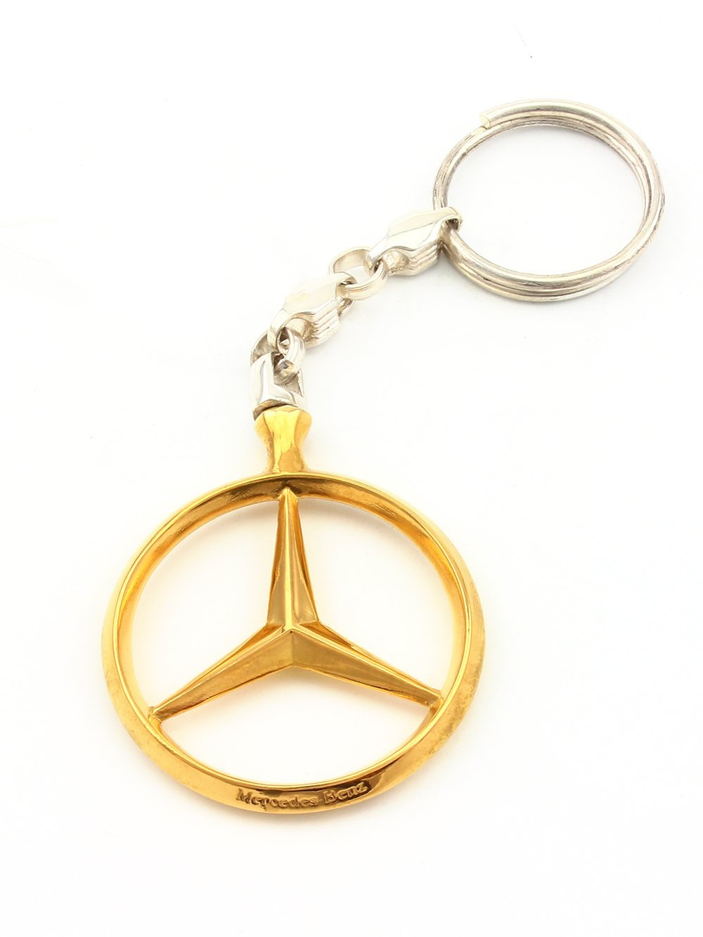 Silver Keychain For Mercedes - Unique Key ring - Solid Sterling Silver - Gift for Men