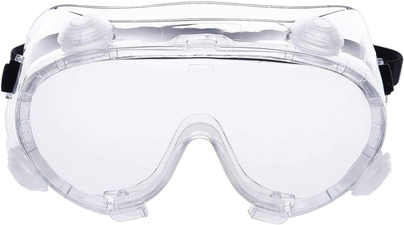 Safety Goggles with Anti-Fog Coating, Indirect vent, Clear Body/Lens Glasses for Eye Protection