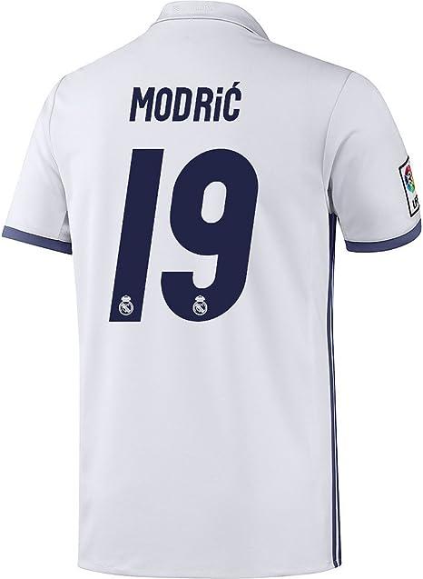 adidas Real Madrid Modric Camiseta Home 2017, Weiss, Large ...
