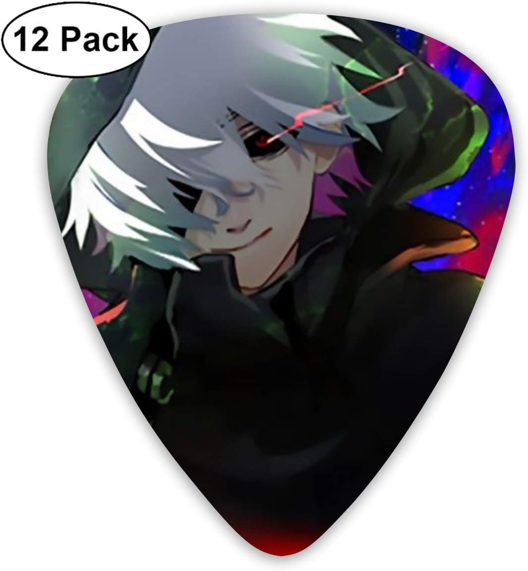 PatriciaHeredia Tokyo Ghoul - Púas para Guitarra (12 Unidades, Calibre Fino, Medio y Pesado): Amazon.es: Hogar