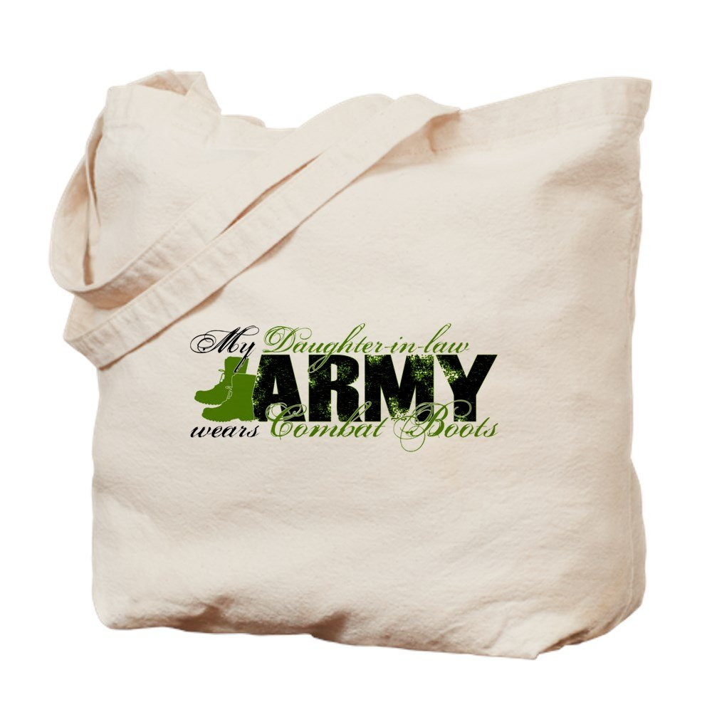 CafePress - Daughter Law Combat Boots - ARMY - Natural Canvas Tote Bag, Cloth Shopping Bag