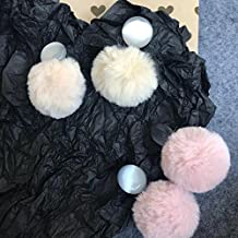 """""""Wood   with"""" Jaese soft artificial fur balls Meng cat's eye earring"""