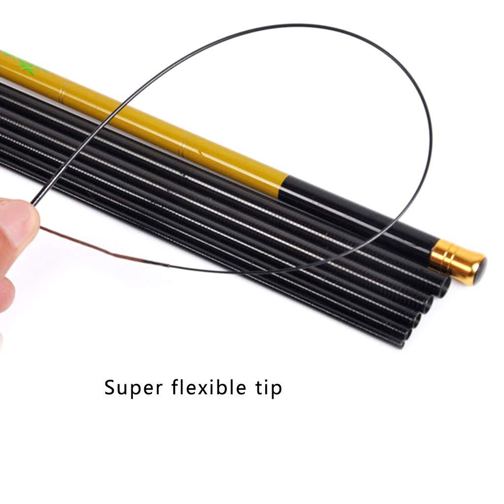 Xineker Ultrashort Portable Stream Canne /À P/êche Canne /À P/êche en Fiber De Carbone T/élescopique P/ôle De P/êche