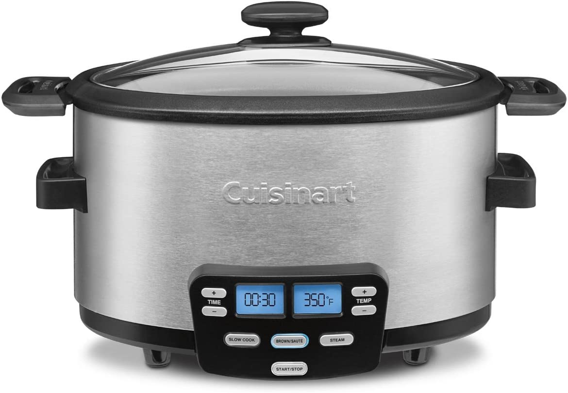 Cuisinart MSC-400 3-In-1 Cook Central 4-Quart Multi-Cooker: Slow Cooker, Brown/Saute, Steamer