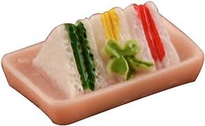 Galand Dollhouse Toy,1/12 Dollhouse Miniature Sandwich Cake Model Toy Doll Room Desk Decor Ornament
