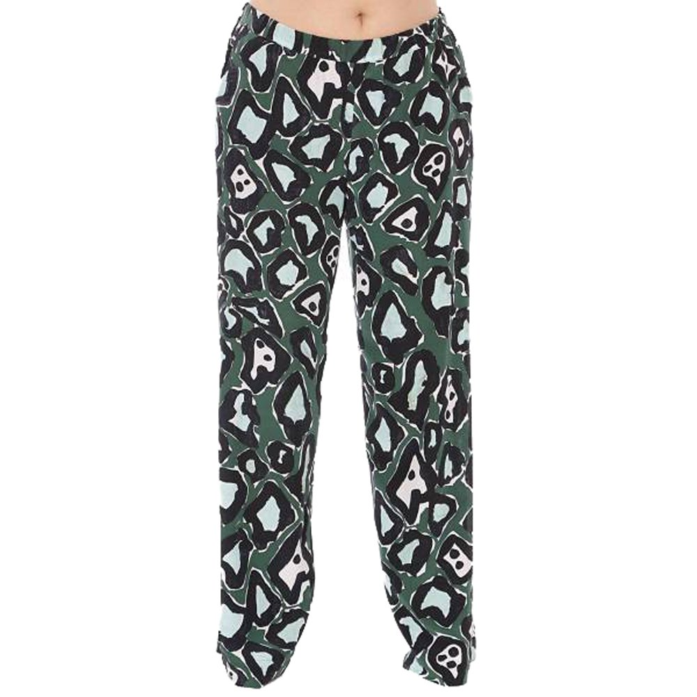 Marina Rinaldi Women's Regia Printed Pure Silk Pants 20W / 29 Green