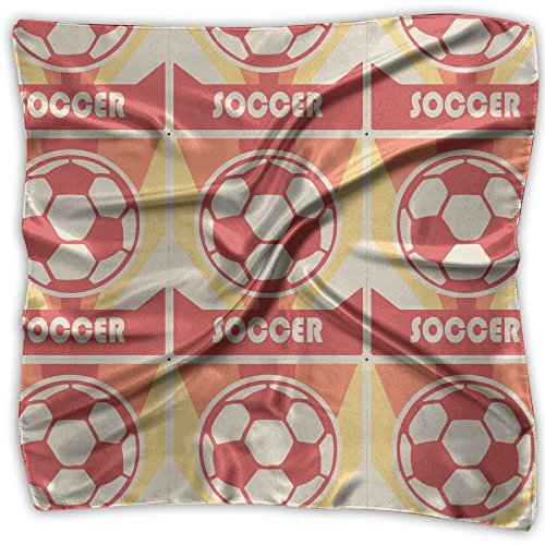 Vintage Style Soccer Scarf Women's Square Scarf 100%Polyester Headscarf Headdress Graphic (Panthers Jersey Scarf)
