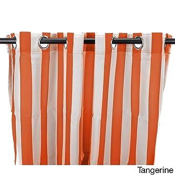 1 Piece 213 4 Cm Tangerine Couleur Tonnelle Rideaux Panneau Simple