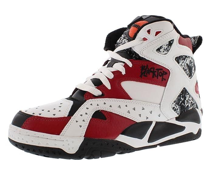Reebok Blacktop Battleground Zapato de Baloncesto, (Blanc/Noir ...