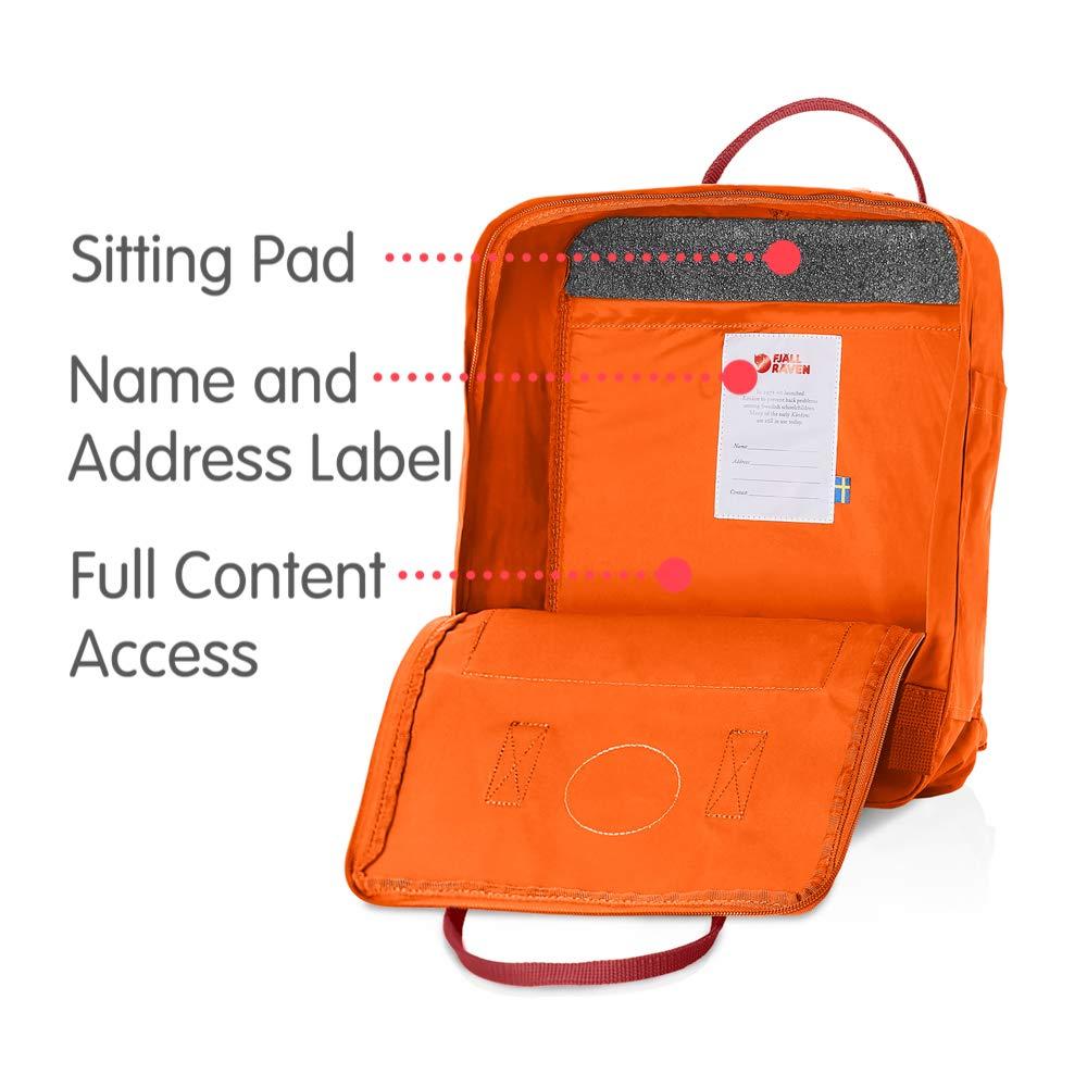 Fjallraven - Kanken Classic Backpack for Everyday, Burnt Orange/Deep Red by Fjallraven (Image #5)
