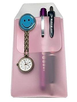 ... enfermeras con inserto especial a prueba de fugas para bolígrafos y lápices, para protección de bolsillo, color rosa: Amazon.es: Oficina y papelería