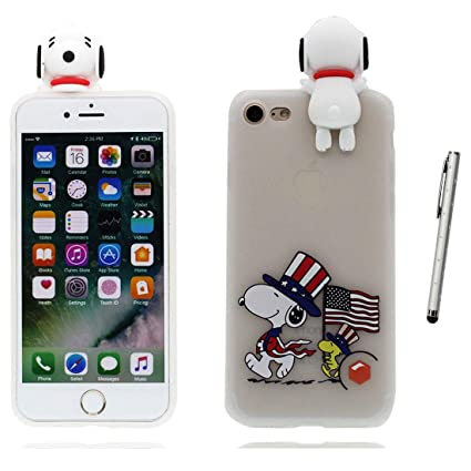 iPhone 7 Carcasa, [ lápiz táctil ] TPU Durable Protector a ...