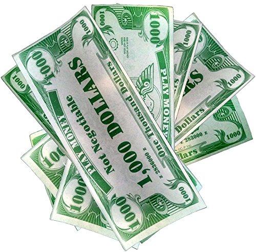 Novelty Play Phoney 1000 Pack Money Fake $1000 Dollar Bills