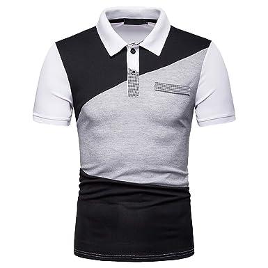 Kneris - Camiseta de Manga Corta para Hombre Blanco S: Amazon.es ...