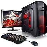 """Megaport Super Méga Pack - Unité centrale pc gamer complet • Ecran LED 22"""" • Claviers de jeu et Souris • AMD 6x3.5Ghz • GeForce GTX1060 • 16Go • 1To • Win10 ordinateur de bureau pc gaming"""