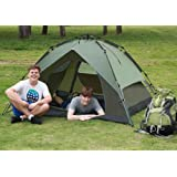 Yaheetech Outdoor Automatic 3-4 Persons Waterproof Double Layer Instant Camping Tent Green tp Tent