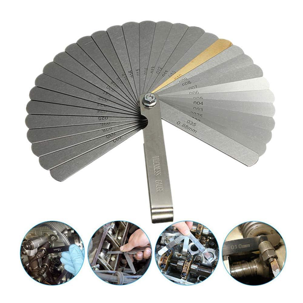 Symphony Feeler Gauge, 32 Pcs Stainless Steel Foldable Feeler Gauges Measuring Tool