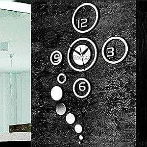 OrangeTag Fashion Silver Quartz DIY 3D Home Modern Decoration Crystal Mirror