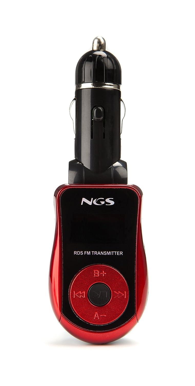 NGS Spark - Radio/MP3 para coches (pantalla LCD, mando a distancia), negro NGS-SPARK