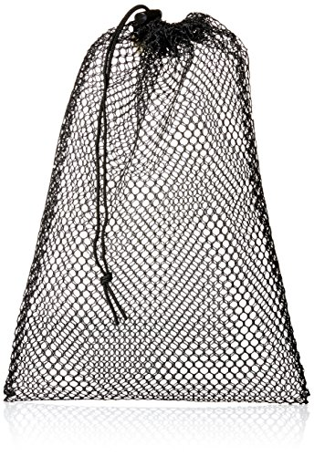 Equinox Nylon Mesh Stuff Bag, Black, 11 x 16-Inch