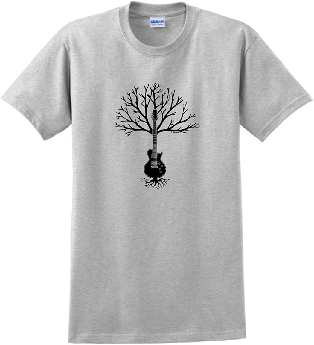 Adults MUSIC SKULL WITH GUITAR AND TREE Black Hoodie X Large