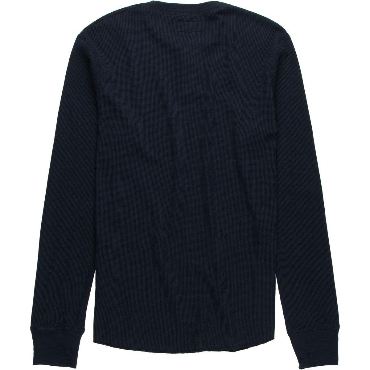 New Brixton Mens Fargo Long Underwear Set Long Sleeve Cotton Soft Blue