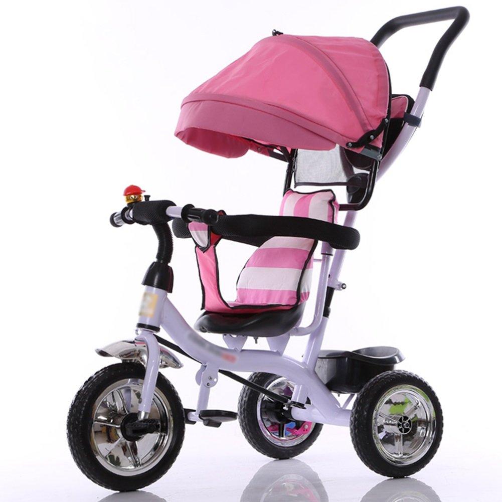 子供Trike 子供たちの三輪車の自転車1-3-5歳のトロリーの赤ちゃんのキャリッジバイクトライクキッズ3ホイール ( ピンク 色 : 子供Trike ピンク ぴんく ぴんく ) B07C89579B ピンク ぴんく, イサワグン:87c742e0 --- rigg.is