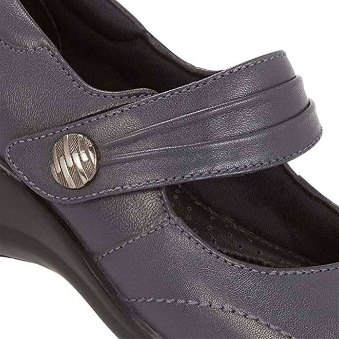 Pavers Womens Touch Fastening Leather Mary Janes Shoes