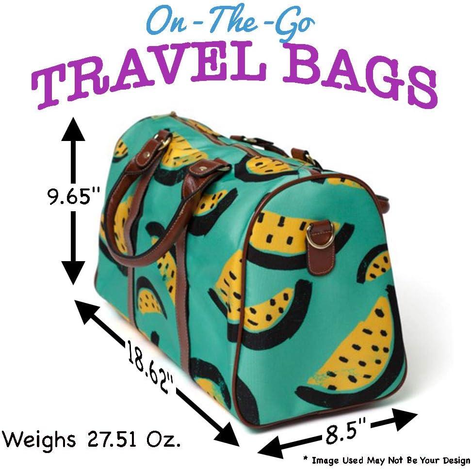 Personalized Monogram Small Carry-On Bag for Teacher Gift Apple Design Teachers Travel Tote
