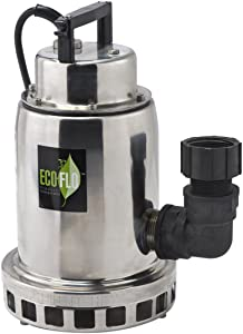 ECO-FLO Products SEP75M Stainless Steel Waterfall Fountain Pump, 3/4 HP, 3,300 GPH