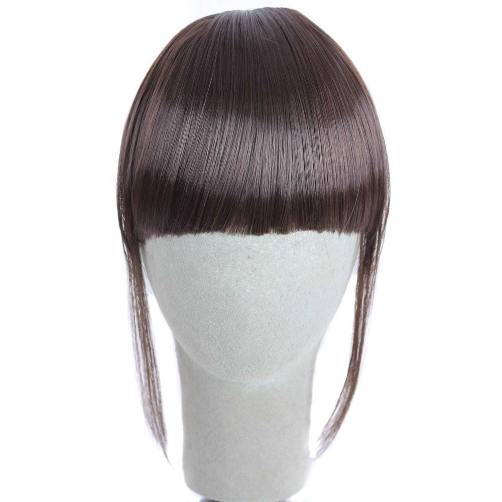 Rucan Pretty Girls Clip On Clip In Front Hair Bang Fringe Hair Extension Piece