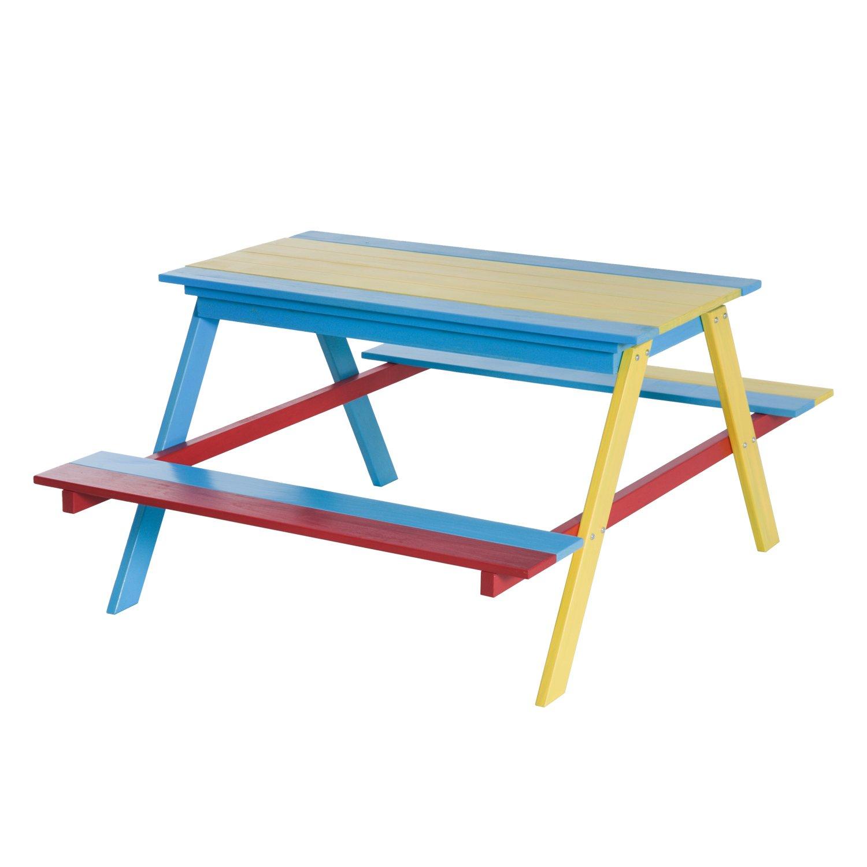 Sandtisch Holz - HOMCOM Picknicktisch mit Sandkasten