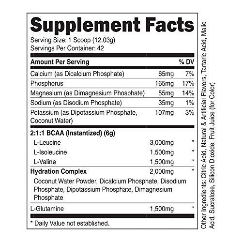 Nutricost BCAA Powder 2:1:1 500 Grams