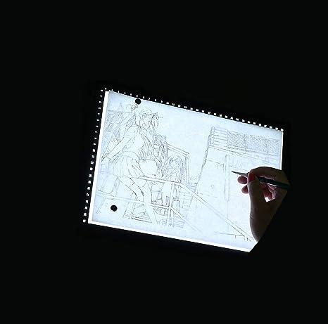 TANERDD A2 Copiar Caja de luz de Seguimiento Dibujo LED Luz de la Pista con Brillo Ajustable, Pintura Tatuaje Bosquejo Animación Fotografía Diseñado para el Artista: Amazon.es: Deportes y aire libre