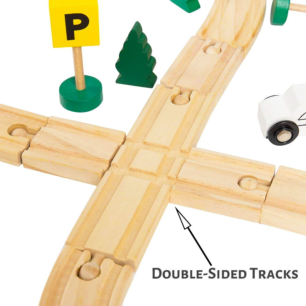 Engine 48 Piece Play Kit Here Fashion Wooden Magnetic Train Set in Gift Box Ideal for Chirstmas Gifts Passenger Car /& Accessories For Kids Friendly Building /& Construction Toy Tracks