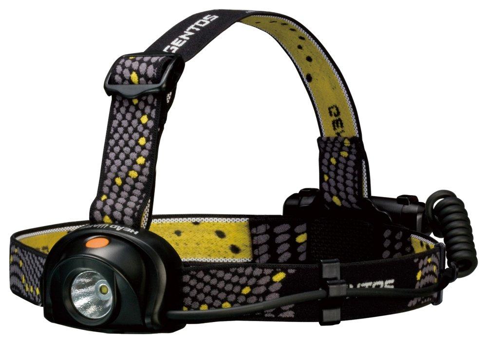 GENTOS(ジェントス) LED ヘッドライト シリコンバンド・ラバーバンド・ヘルメットホルダー付属 インスタントオフスイッチ