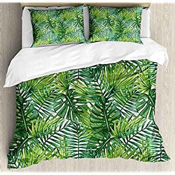 Amazon Com Bulutu Palm Tree Leaves Print Cotton Twin Kids
