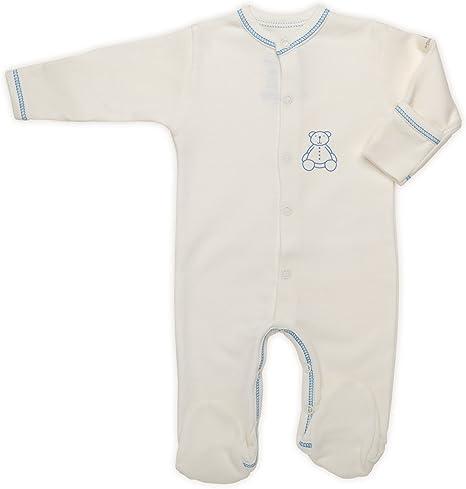 The Dida World Nones - Pijama de algodón orgánico, talla 0 meses, oso estampado azul: Amazon.es: Bebé
