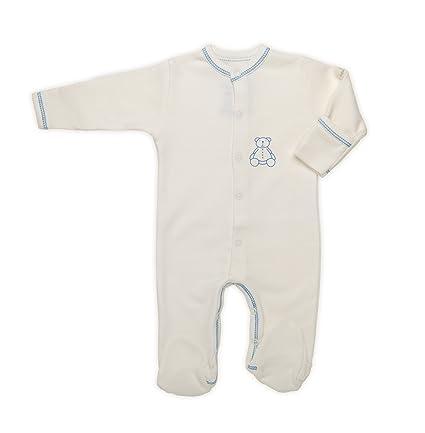 The Dida World Nones - Pijama de algodón orgánico, talla 0 meses, oso estampado