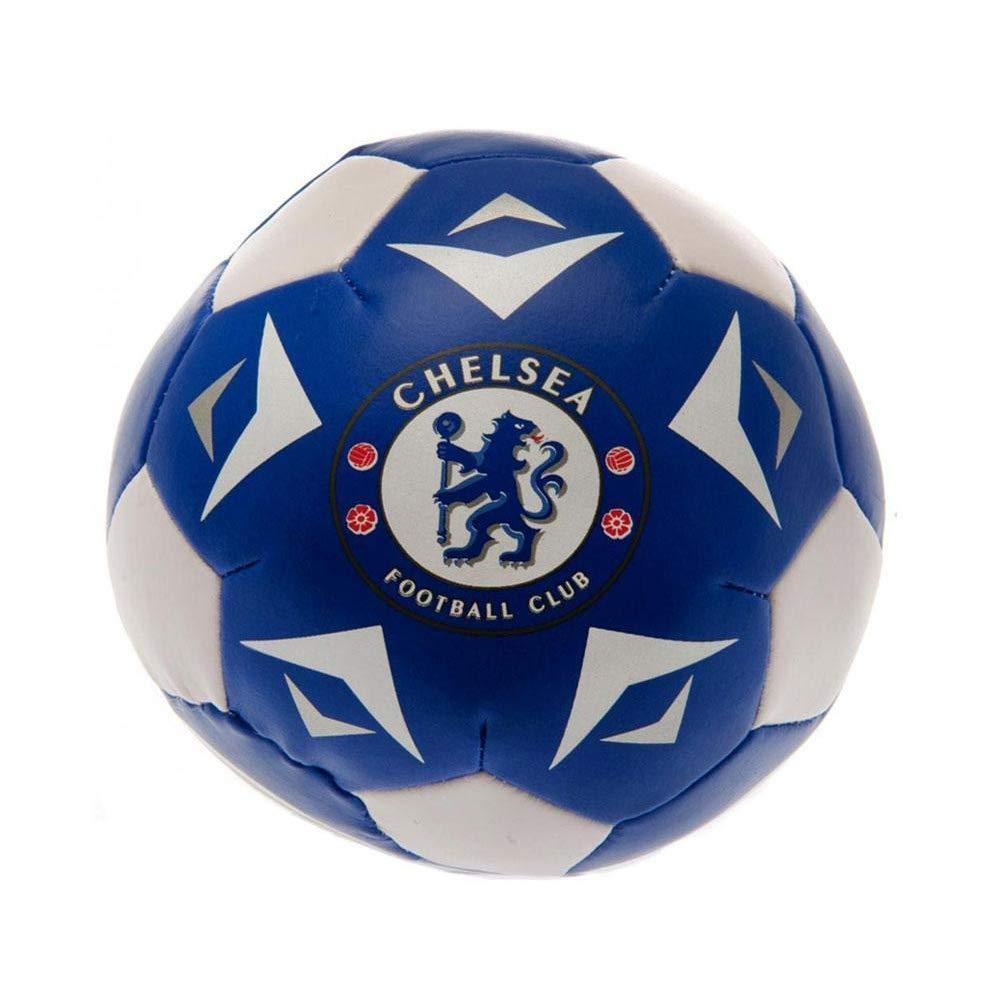 Chelsea FC mini da 4 pollici formazione soft play palla blu ufficiale bianco
