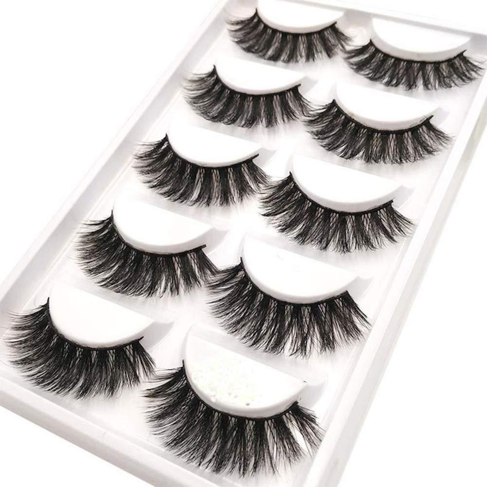 64906e9537b Amazon.com : CerroQreen Eyelashes Thick Curly Fashion Lashes 5 Pairs 3D  Mink Eyelashes Dramatic False Lashes (eyelashes -01) : Beauty