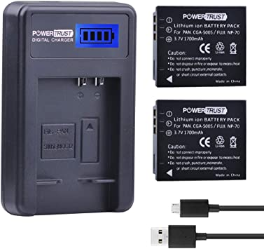 USB Battery Charger DMW-BCC12 CGA-S005 For Panasonic Lumix DMC-FX01